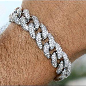 Other - Premium 18k White Gold Cuban Bracelet